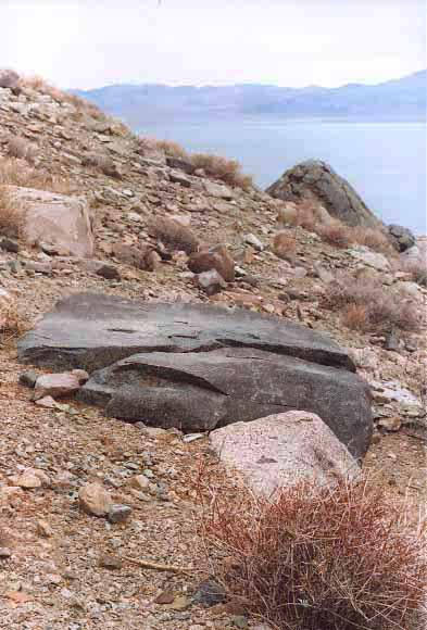 Medicine rock, Walker Lake, NV