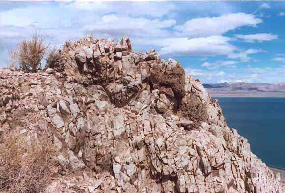 Uplifting Rock Formation, Walker Lake, NV