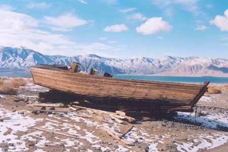 Carp boat at Walker Lake, NV